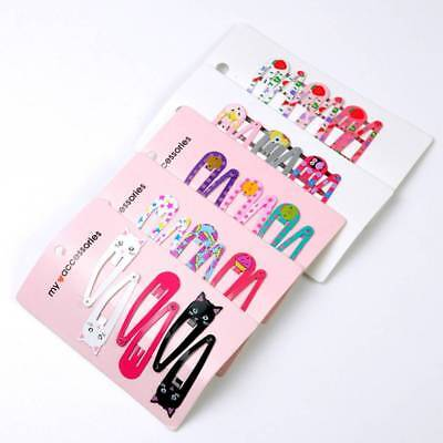 """6PCS 2"""" Hair Clips Snaps Hairpin Girls Baby Kids Hair Bow Accessories Gift Decor"""