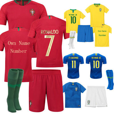 2018 FOOTBALL kits Soccor Team Suits Word Cup RONALDO 7 Jersey For Kids Adults