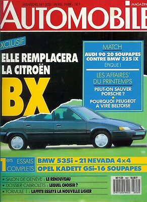 L'Automobile n°502 avril 1988