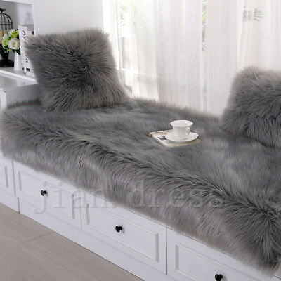 Balcony Large Faux Fur Area Rug Fluffy Sheepskin Mat Pad Room Hairy Floor Carpet