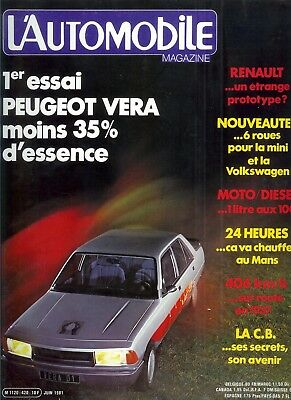 L'Automobile n°420 juin 1981
