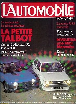 L'Automobile n°423 septembre 1981