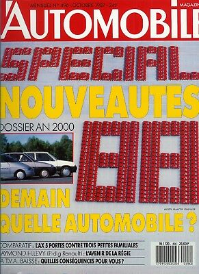 L'Automobile n°496 octobre 1987