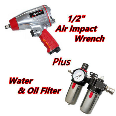 """1/2""""Heavy Duty Pneumatic Air Twin Hammer Impact Wrench Spanner 475Nm Torque"""