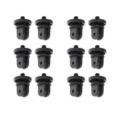 12x Mini Tripod Mount Adapter Screw For Gopro Hero Suction Cup 3+ 3 4 Camera