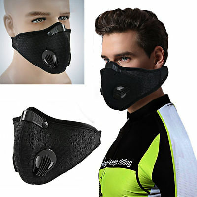 Respirator Work Dust Mask Dust Proof Filtered Activated Carbon Filtration Black