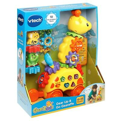 New VTech Gear Up & Go Gearaffe Fun Interactive Musical Educational Learning Toy