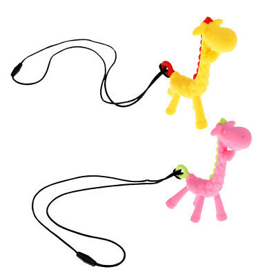 Silicone Animals Baby Teether Teething Pendant Necklace BPA Chew Toy