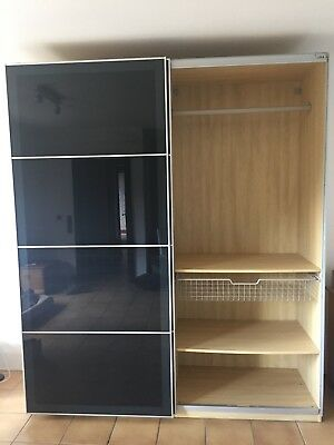 kleiderschrank in wei pax von ikea mit schiebet ren 150cm breit 200cm hoch eur 100 00. Black Bedroom Furniture Sets. Home Design Ideas