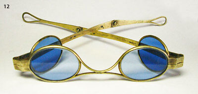 Antique Sunglasses - Ultra Rare 1800's Civil War Era Carriage Glasses Fine Cond