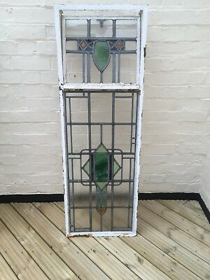 Leaded Window Stained Glass 1930's 8 Units