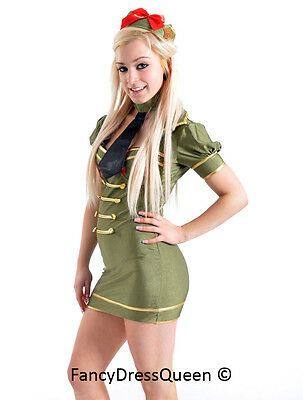 Sexy Ladies Army Fancy Dress Costume Military Uniform Medium UK Sizes 8/10  sc 1 st  PicClick UK : army fancy dress costumes  - Germanpascual.Com