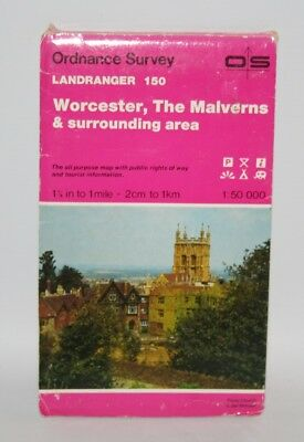 Ordnance Survey Landranger Map -Worcester & The Malverns, Sheet 150 - 1991
