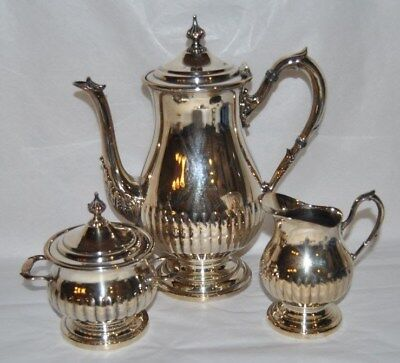 Beautiful Vintage  3 Piece  Viking Plate, Coffee / Tea Pot, Creamer And Sugar