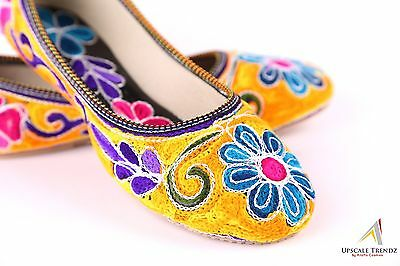 Spring Multi Color Flower Thread Embroidery Fashion Party Casual Women Flat Shoe