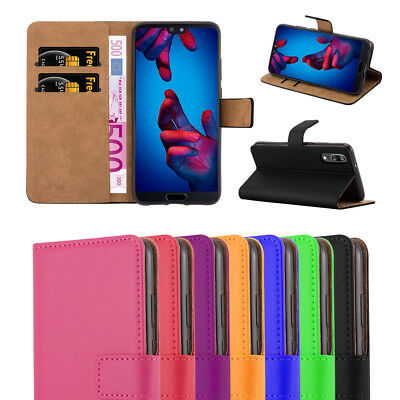 Luxury Genuine Leather Flip Case Wallet Cover For Huawei P20 / P20 Pro/ P20 Lite