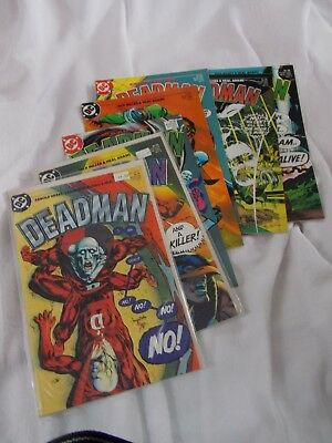 DEADMAN lot of 7 complete 1985 Neal Adams series  VF/NM #1,2,3,4,5,6,7 DC comics