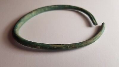 Ancient celtic bracelet with marks, bronze