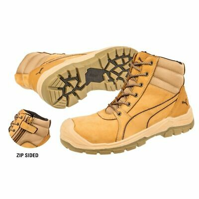 New PUMA Safety Boot Tornado Wheat Zip Sided Scuff Cap Range 6 inches Work Boots
