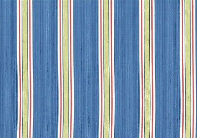 Waverly Fabric Williamsburg Fincastle Blue Red Lime White  Drapery  Upholstery