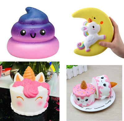 Squishies/Squishy Jumbo Slow Rising Toy Unicorn/Cake/Poop/Galaxy/Hamster/Milk