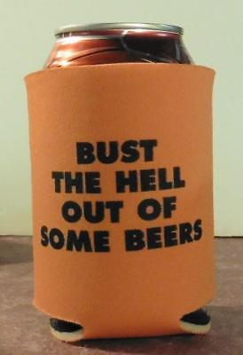 TK and Mike, Bust the Hell Out of Some Beers Can Coozie