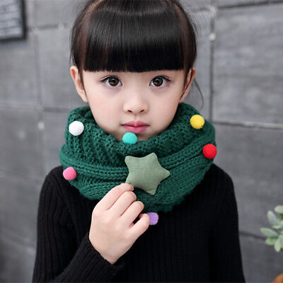 KD_ Cute Baby Kids Boys Girls Winter Collar Scarf O Ring Neck Knitted Scarves