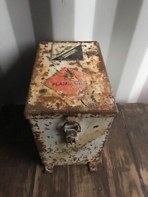 🗝 Vintage Architectural Industrial  Safe / Metal Strong Box, Storage, Factory
