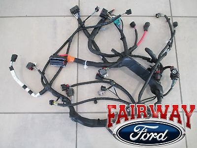 08 thru 10 super duty f250 f350 f450 f550 oem ford engine wiring harness  6 4l