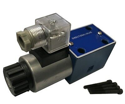 Hydraulic Directional Valve, D03, 21gpm, 4560psi,24VDC, 2position, DIN Connector