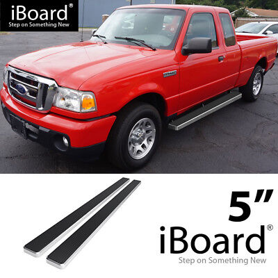 "4/"" Black eBoard Running Boards Fit Ford F150 SuperCrew Cab 09-14"