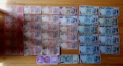3,970 India Rupees 36 pieces banknote lot