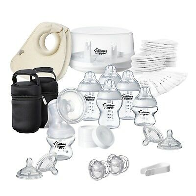Newborn Baby Starter Kit Microwave Steriliser Breast Pump And Feeding Bottles