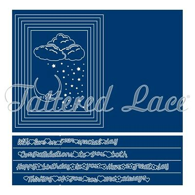Tattered Lace TUNNEL CARD Die Rectangle Frames Metal Cutting Dies - TLD0409