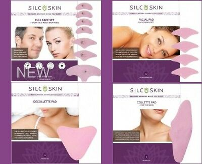SilcSkin Reusable Pads Reduce Wrinkles Anti-Aging (Face, Neck, Chest) Silc Skin