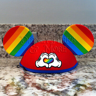 Disney Parks & Disneyland Gay Days Heart Mickey Mouse Rainbow Ears Hat - Adult