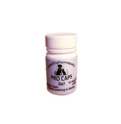 Pro Cap 2in1 Flea Killer & Control in one Pill Dogs / Cats 2-30 lb 6month supply