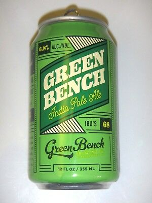 IPA, Green Bench Brewing, Florida, Empty 12oz Beer Can, New Foil Label