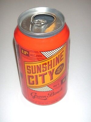 Sunshine City IPA, Green Bench Brewing, Florida, Empty 12oz Beer Can, Foil Label
