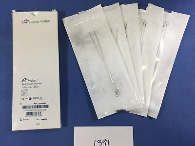BVI Beaver Visitec 8590450 (box of 7) Canaliculus Intubation Set 15.5cm x 0.05cm