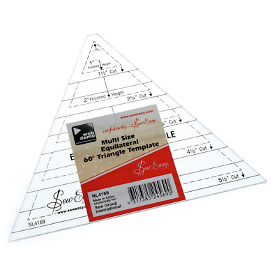 """Quilting Template Multi Equilateral Triangle 1"""" to 5.5"""" Shapes Sewing Sew Easy"""