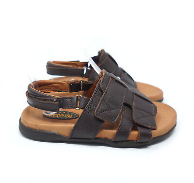 Kenneth Cole Reaction Sandals Jack N Thrill II Boy 12 Brown Leather Open Toe