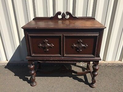 Antique Small Buffet Table With 2 Doors Victorian
