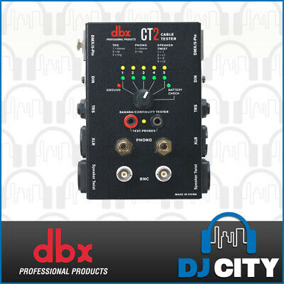 DBX CT2 Cable Tester Analyzer Audio Lead Checker