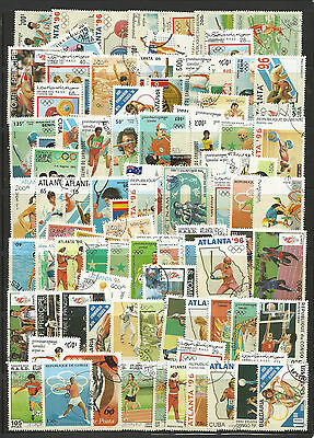 OLYMPIC GAMES Collection Packet of 100 Different Stamps of World Used