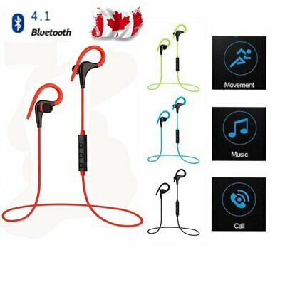 Bluetooth 4.1 Wireless Stereo Earphone Earbuds Sport Headphone Headset NEWEST