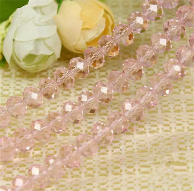Jewelry Faceted 70pcs #5040 6x8mm Rondelle glass Crystal Flat Beads #196