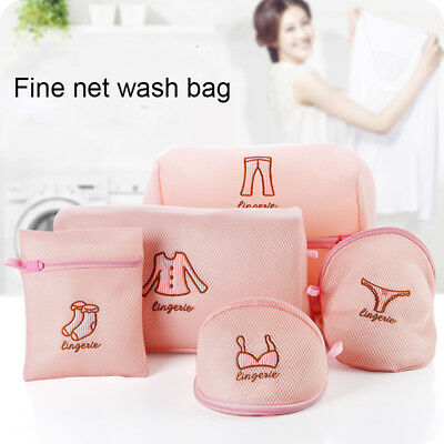 Zippered Mesh Laundry Wash Bags Foldable Lingerie Bra Socks Underwear Travel