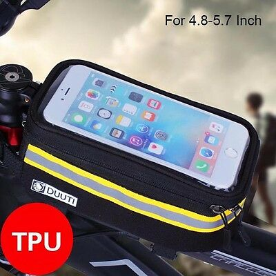 Waterproof/Reflective Frame Bicycle Bag Road Bike Saddle Bag Cell Phone Case