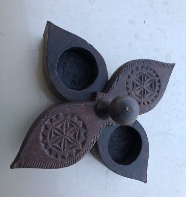 Spice Box India Hand Carved Box Wood Buttons